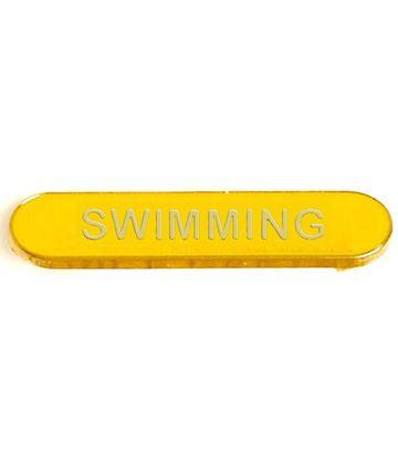 Yellow Swimming Lapel Bar Badge 40mm x 8mm