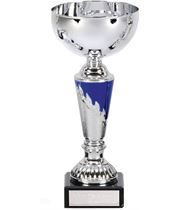 "Presentation Cup With Laurel Wreath Detail Silver & Blue 25cm (9.75"")"