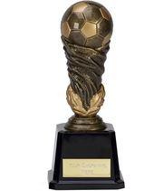 """Antique Gold Spiral Leaf Football Trophy 19cm (7.5"""")"""