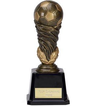 """Antique Gold Spiral Leaf Football Trophy 15cm (6"""")"""