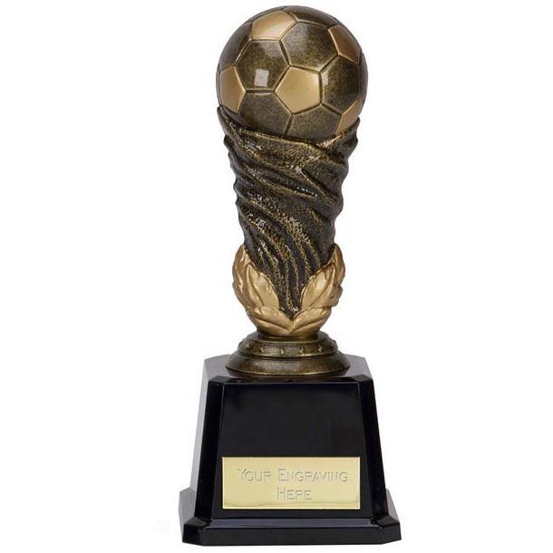 """Antique Gold Spiral Leaf Football Trophy 21.5cm (8.5"""")"""