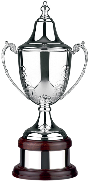 "Hand Chased Silver Plated Presentation Cup with Lid 42.5cm (16.75"")"