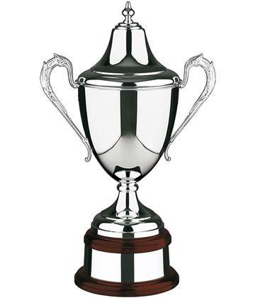 "Silver Plated Plain Riviera Presentation Cup 36cm (14.25"")"
