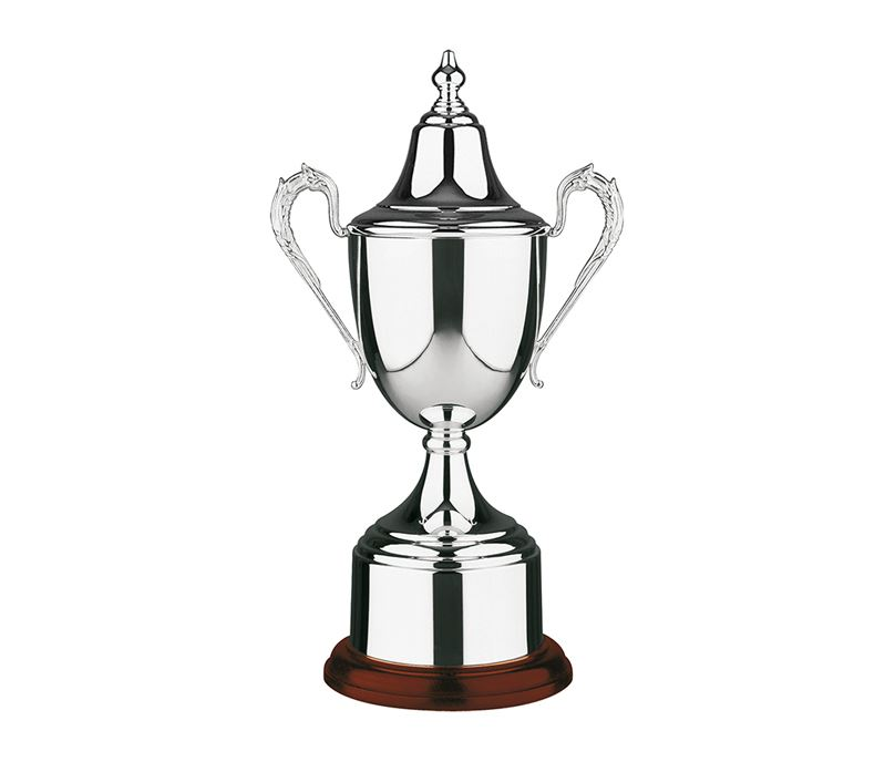 "Silver Plated Colonial Presentation Cup with Lid 42.5cm (16.75"")"