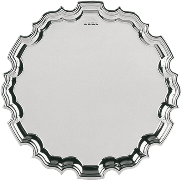 "Hallmarked Sterling Silver Salver Tray 20cm (8"")"
