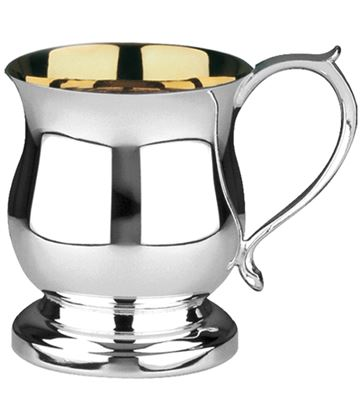 Hallmarked Sterling Silver & Gold Plated Childrens Christening Cup