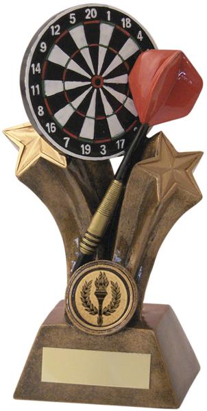 "Gold Shooting Star Dartboard & Dart Trophy 15cm (6"")"