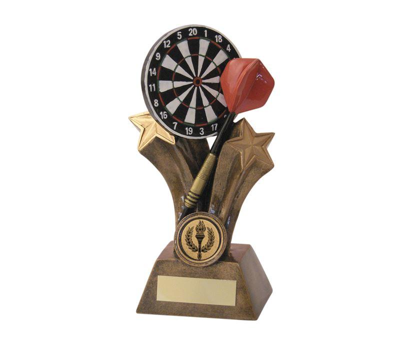 "Gold Shooting Star Dartboard & Dart Trophy 20.5cm (8"")"