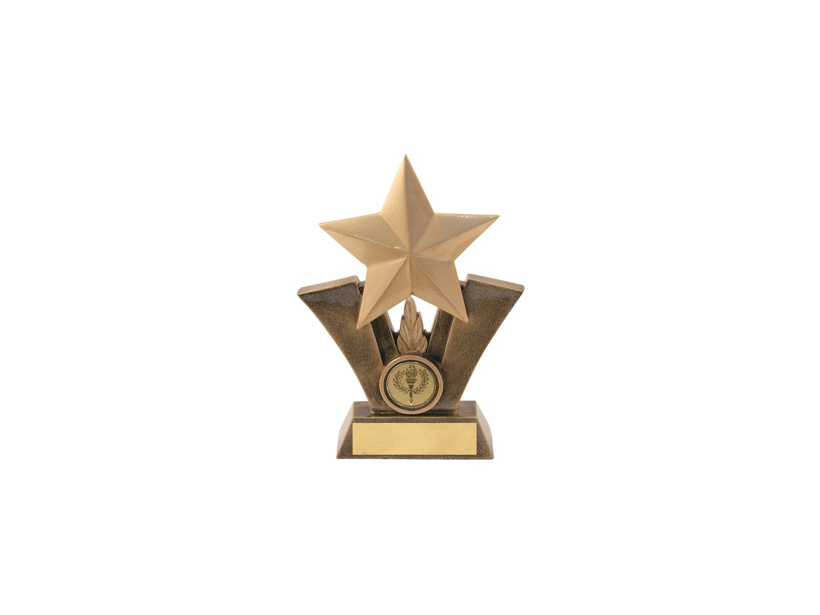 Gold Resin Star Trophy With Centre Disc 125cm 5