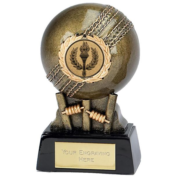 "Gold Cricket Ball Trophy Award 12cm (4.75"")"
