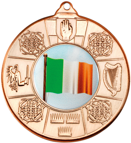 "Bronze Irish Patterned Medal 50mm (2"")"