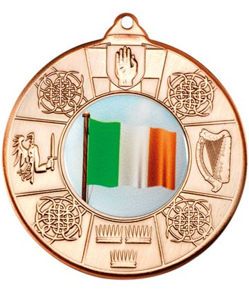 "Bronze Irish Patterned Medal 50mm (2"")"