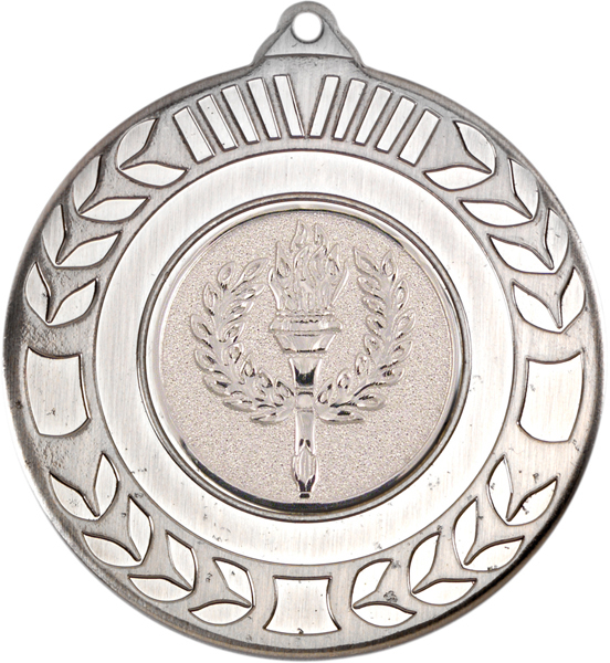 "Antique Silver Wreath Medal 50mm (2"")"