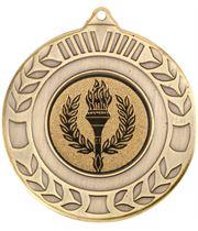 "Antique Gold Wreath Medal 50mm (2"")"