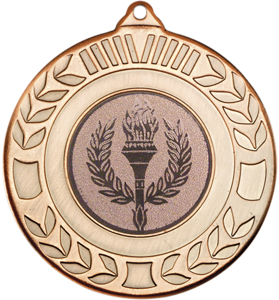 "Antique Bronze Wreath Medal 50mm (2"")"