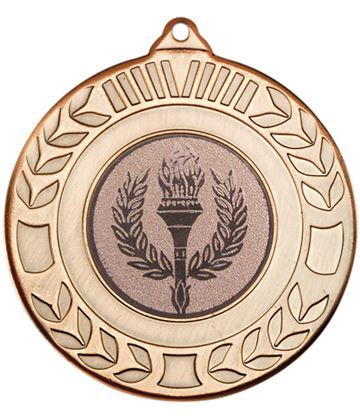 "Antique Bronze Wreath Medal 50mm (2"")"