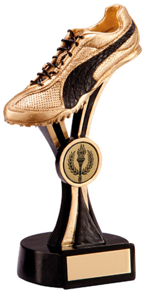 "Gold & Black Resin Puma Running Spike Trainer 18.5cm (7.25"")"