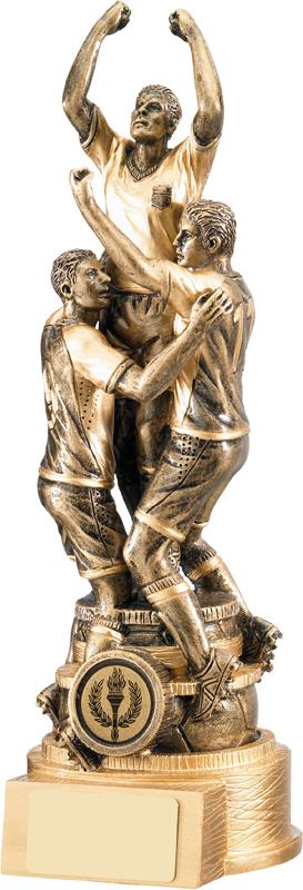 "Gold Resin Triumph Football Trophy 26.5cm (10.5"")"
