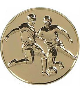 """Gold Presentation Football Medal 60mm (2.25"""")"""