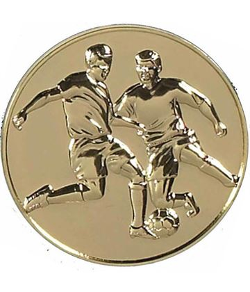 "Gold Presentation Football Medal 60mm (2.25"")"