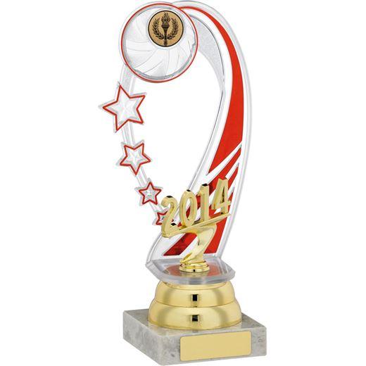 "Red & Gold Plastic 2014 Shooting Stars Award 23cm (9"")"