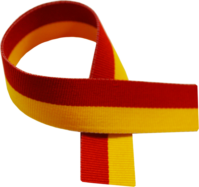"Red & Yellow Medal Ribbon 76cm (30"")"