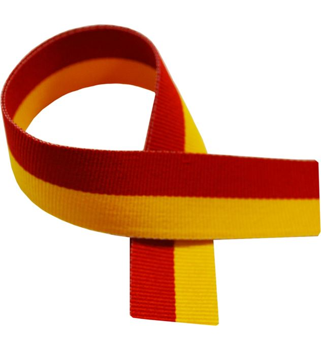 "Red & Yellow Medal Ribbon 80cm (32"")"