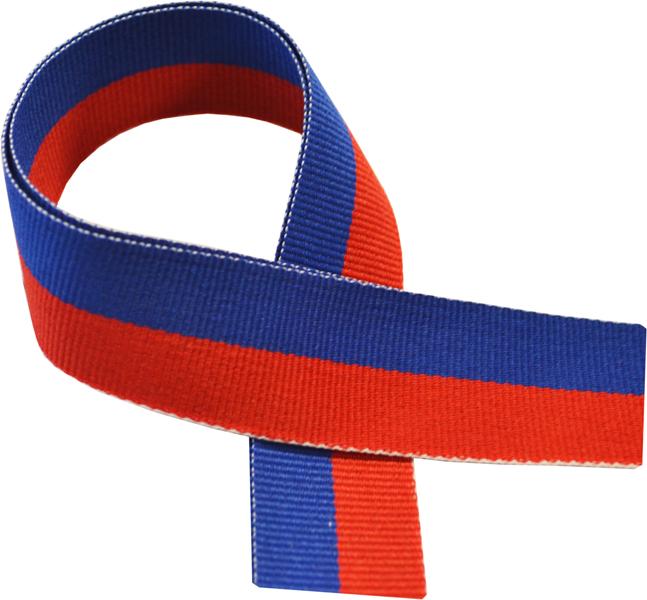 "Royal Blue & Red Medal Ribbon 76cm (30"")"