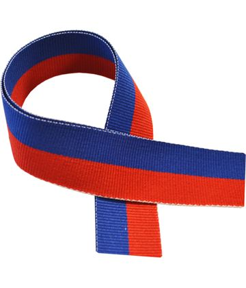 "Royal Blue & Red Medal Ribbon 76cm (30"")"