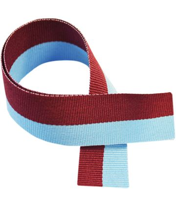 "Claret & Blue Medal Ribbon 76cm (30"")"