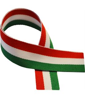 "Green, White & Red Medal Ribbon 76cm (30"")"