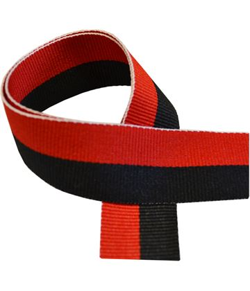 "Black & Red Medal Ribbon 76cm (30"")"