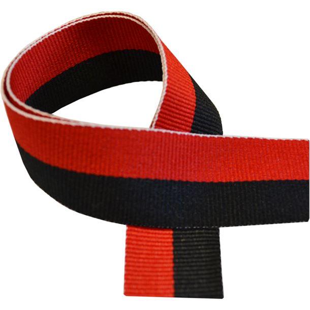 """Black & Red Medal Ribbon 80cm (32"""")"""