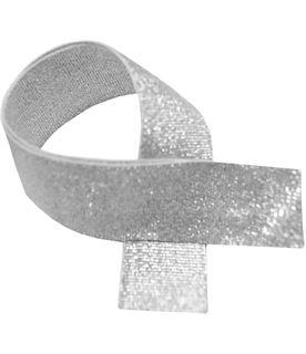 "Silver Glitter Medal Ribbon 76cm (30"")"