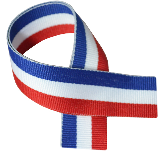 "Red, White & Blue Medal Ribbon 76cm (30"")"
