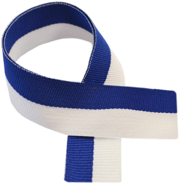 "Blue & White Medal Ribbon 76cm (30"")"