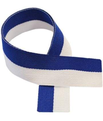 "Blue & White Medal Ribbon 80cm (32"")"