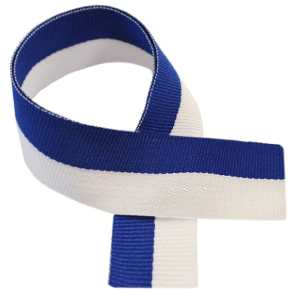 """Blue & White Medal Ribbon 80cm (32"""")"""