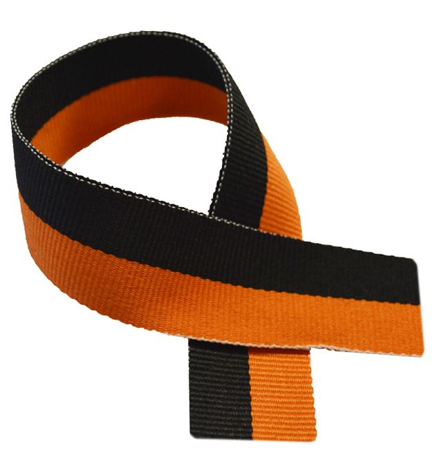 "Black & Orange Medal Ribbon 80cm (32"")"