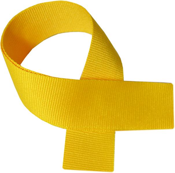 "Yellow Medal Ribbon 76cm (30"")"
