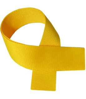 "Yellow Medal Ribbon 80cm (32"")"