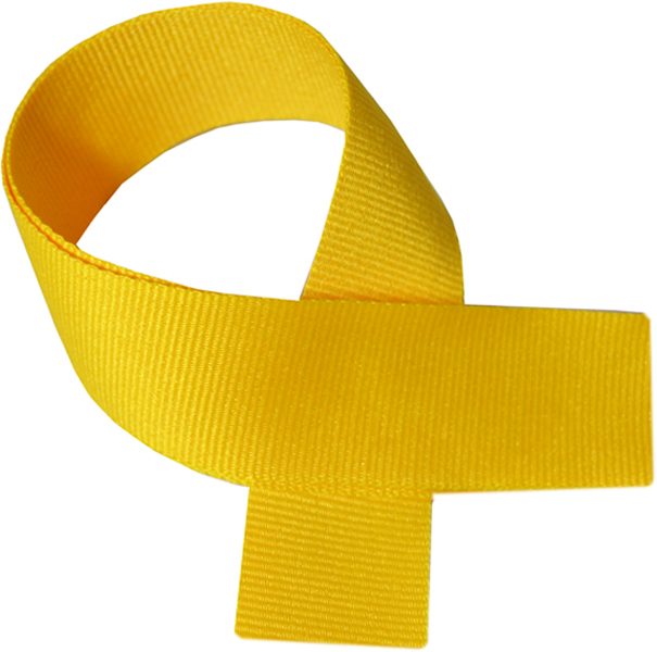 "Yellow Medal Ribbon 76cm (30"")"