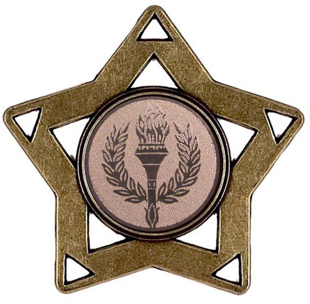 "Bronze Multi Sport Mini Star Medal 60mm (2.25"")"