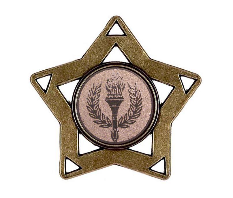 "Bronze Multi Sport Mini Star Medal 60mm (2.25"")"