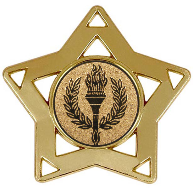 "Gold Multi Sport Mini Star Medal 60mm (2.25"")"
