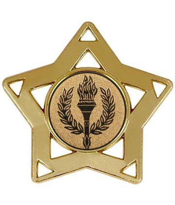 "Gold Multi Sport Mini Star Medal 60mm (2.25"")"