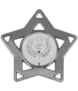 "Silver Multi Sport Mini Star Medal 60mm (2.25"")"