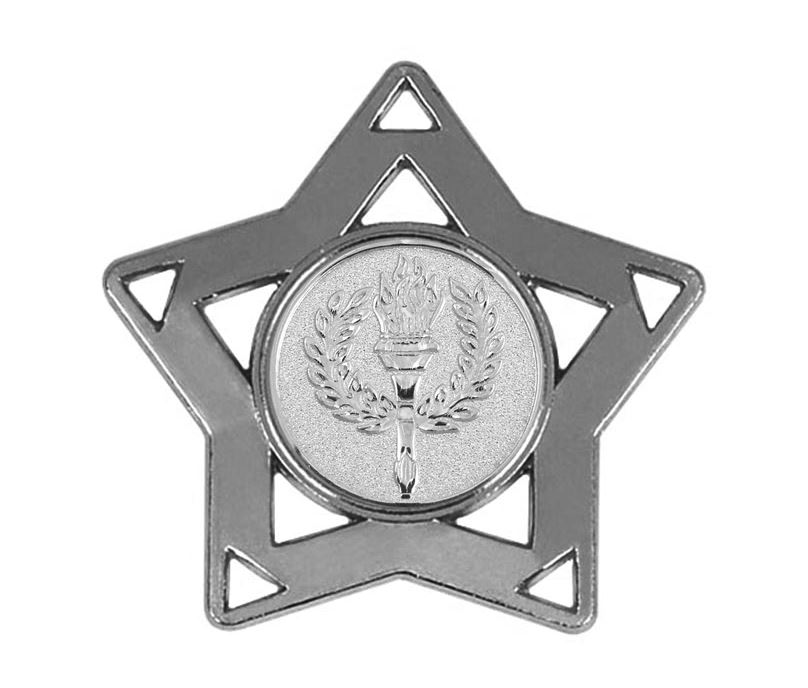 "Silver Multi Sport Mini Star Medal 60mm (2.25"")"