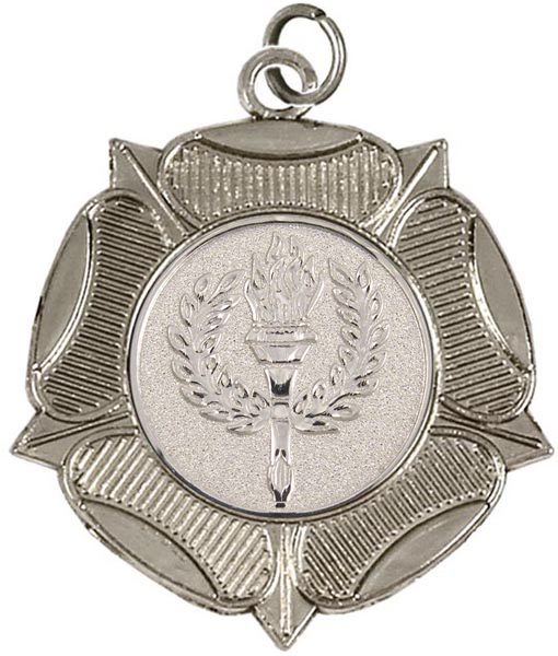 "Silver Tudor Rose Medal 50mm (2"")"
