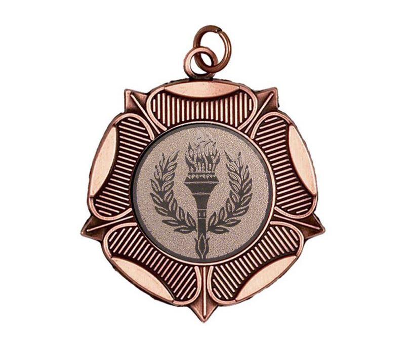 "Bronze Tudor Rose Medal 50mm (2"")"